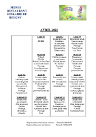 menu AVRIL 2021