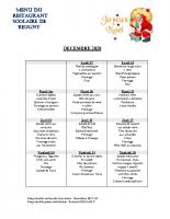 menu DECEMBRE 2020