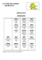 menu JUILLET 2021