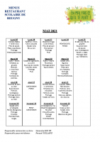 menu MAI 2021
