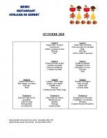 menu OCTOBRE 2020