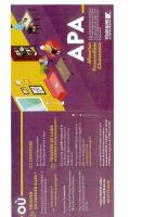 Comment obtenir l'APA