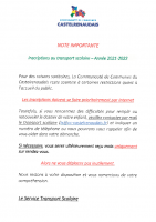 Note a joindre aux modalites incriptions 2021-2022